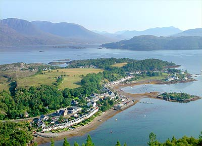 Plockton from the hill opposite