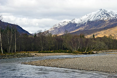 River Carron and Mountains beyond at Coulags